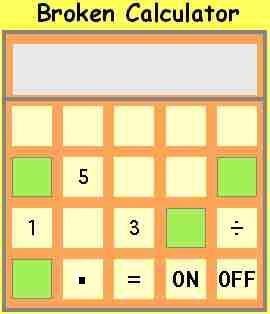 how to solve broken calculator problems